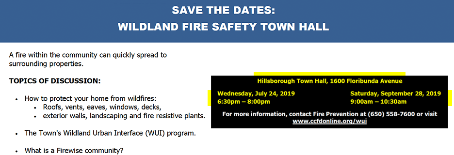 wildland fire safety town hall